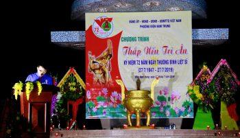 """Chương trình """"Thắp nến tri ân các Anh hùng Liệt sĩ"""" tại nghĩa trang Liệt sĩ Điện Nam, phường Điện Nam Trung"""